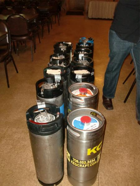 More kegs. They were still being carried in while I was taking these pictures.